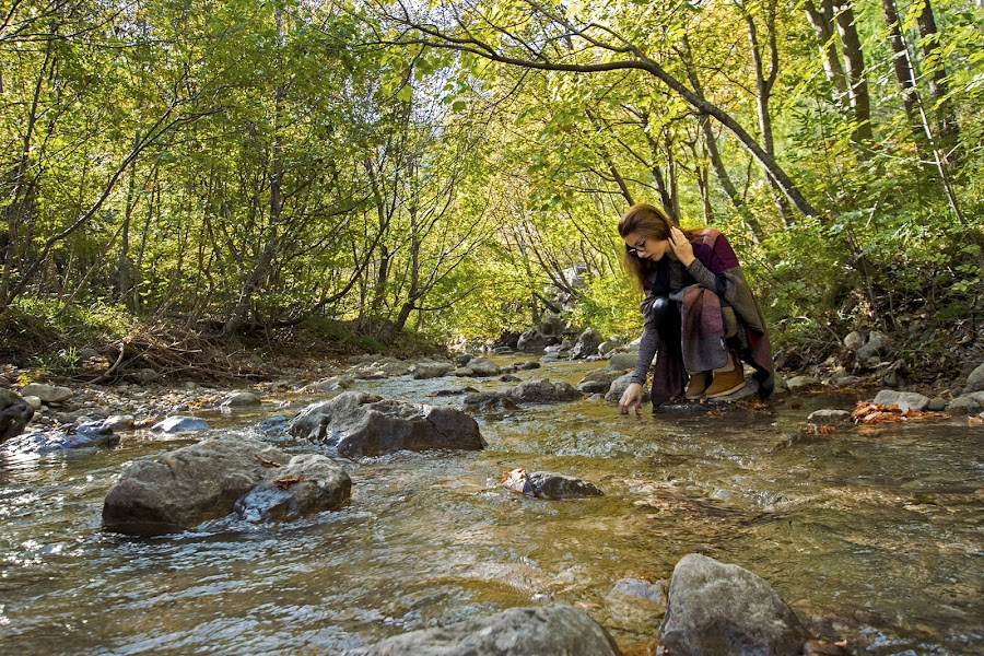 Autumnedition by Marina Mršić - People Street & Candids ( water, girl, green, trees, rocks,  )