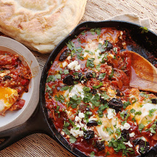 Shakshuka (North African-Style Poached Eggs in Spicy Tomato Sauce).