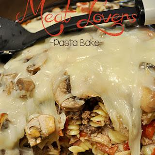 Meat Lovers Pasta Bake.