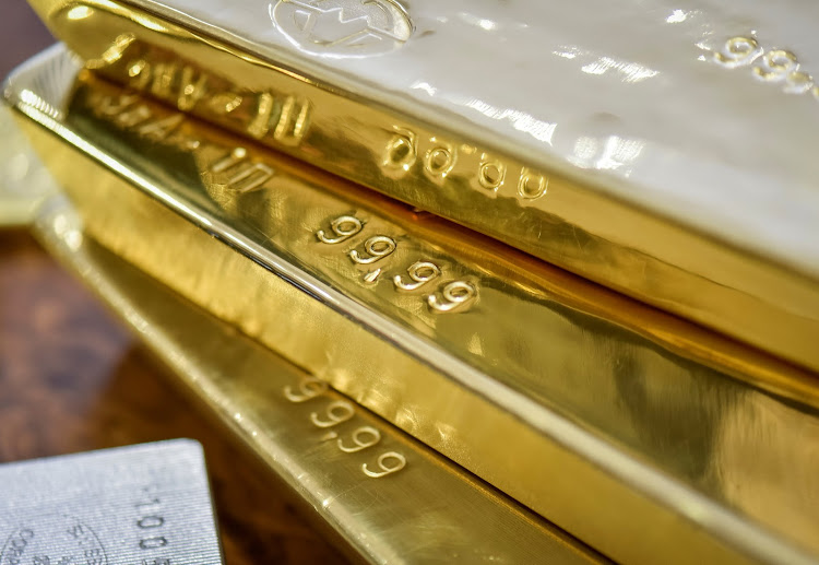 Gold bars are seen at the Kazakhstan's National Bank vault in Almaty, Kazakhstan. File Picture: REUTERS/MARIYA GORDEYEVA