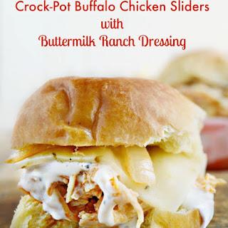 Crock-Pot Buffalo Chicken Sliders with Buttermilk Ranch Dressing