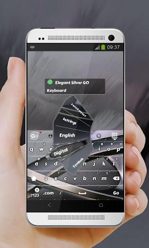 玩個人化App|優雅的銀色 GO Keyboard免費|APP試玩
