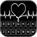 Doodle Heart Beat Keyboard Background icon