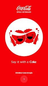 Coca-Cola Emoji Keyboard screenshot 1