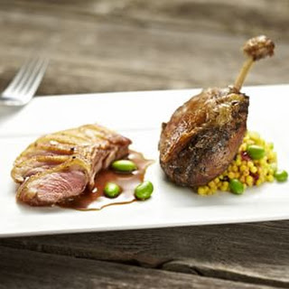 Duck Breasts and Confit of Duck Legs.