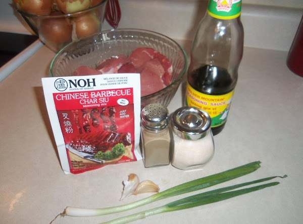 Mix everything together and let marinate 30 minutes to 1 hour. Then fry or...
