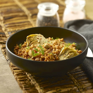 Artichoke Farro (or Sorghum) from Ancient Grains by Kim Lutz
