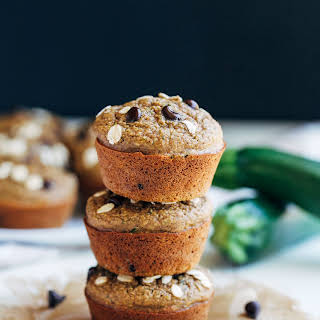 Healthy Flourless Zucchini Muffins.