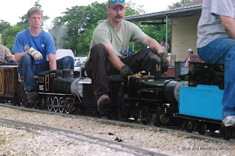 Photo: Roy Tomlin on his 2-4-0.  HALS-SLWS 2009-0523