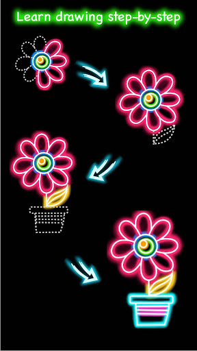 Draw Glow Flower for PC