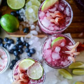 Blueberry Hibiscus Margarita Punch.