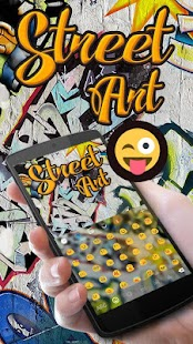 Street Art GO Keyboard Theme - náhled