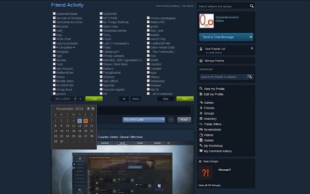 Steam Activity Filter