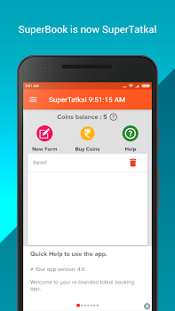 SuperTatkal - Train ticket