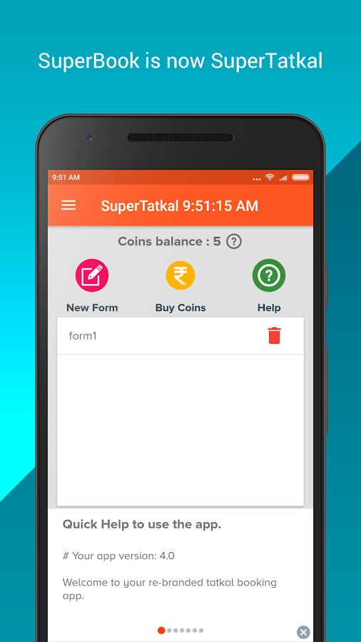 SuperTatkal - Train ticket- screenshot