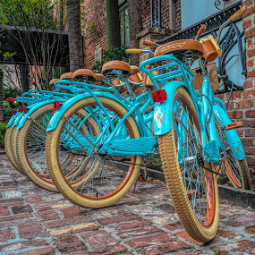 bikes to the ready by Peter Schoeman - Transportation Bicycles ( bicycle, spoke, cycling, recreational, family bicycle city, white, fitness, rim, nobody, group, pedal, old, relaxation, collection, seat, vintage, bike riding, drive, frame, activity, icon, isolated, cycle, ride, speed, bike, vehicle, design, family biking, vacation, leisure, park, tire, chain, motion, race, wheel, retro, biking, transport, lifestyle, transportation, outdoor, outdoors, urban, detailed, healthy, travel, sport, fun )