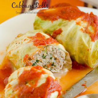 Turkey Florentine Stuffed Cabbage Rolls.