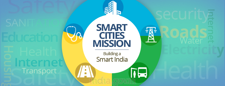Smart cities mission aim to develop Indian cities.
