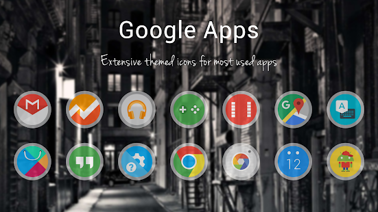 Frosty Icon Pack Theme Screenshot