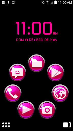 ICON PACK PINK GLOSSY BUTTONS