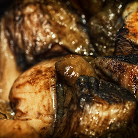 Melting 3 by Juliusz Wilczynski - Food & Drink Cooking & Baking ( mushroom, macro, melting, fried, photography )