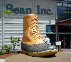 Photo: Big boot at L.L. Bean's flagship store in Freeport, Maine