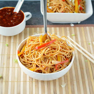 Veggie Szechuan Noodles.