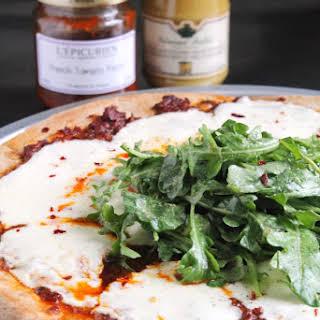 GRILLED TOMATO PESTO PIZZA.