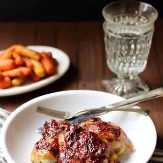 Raspberry Chipotle Glazed Chicken Thighs