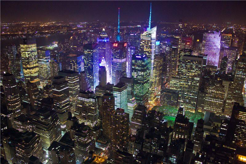Ночной город с высоты Эмпайр Стейт Билдинг. США глазами туриста, туризм, факты