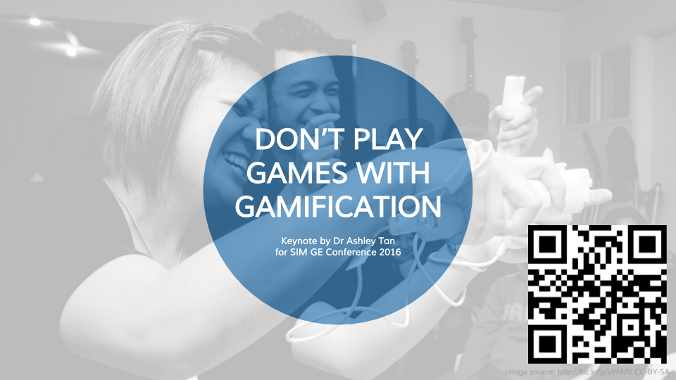 Don't Play Games with Gamification