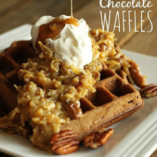 German Chocolate Waffles
