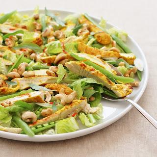 Thai Chicken Salad with Honey Drizzled Cashews.