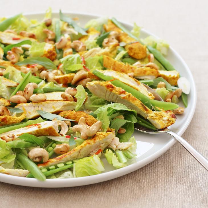 Thai Chicken Salad with Honey Drizzled Cashews Recipe