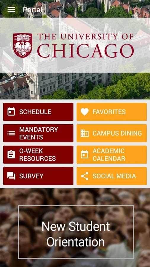 University of Chicago Fall 2017 Orientation- screenshot