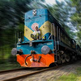 the risky journey by Atik Zisan - Transportation Railway Tracks