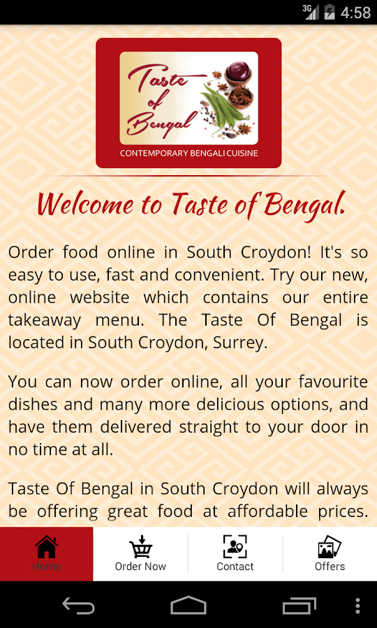 Taste Of Bengal- screenshot