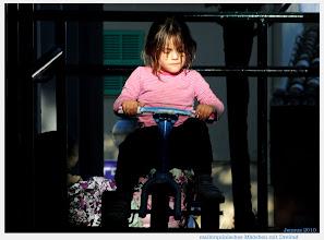 Photo: chica española en el triciclo chica española en el triciclo