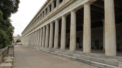 Photo: Ancient Agora. We got rained on here and spent a lot of time in this arcade.