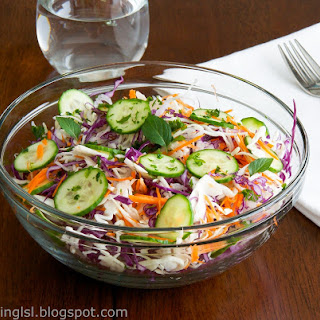 Green And Purple Cabbage Salad