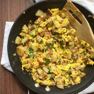 Potato and Duck Egg Scramble.