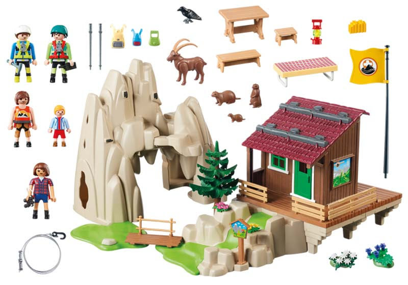 Contenido real de Playmobil® 9126 Escaladores con Refugio