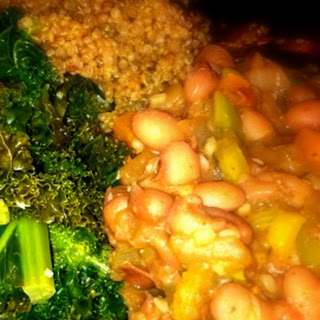 Red Beans Over Quinoa with Kale - From the Engine 2 Diet