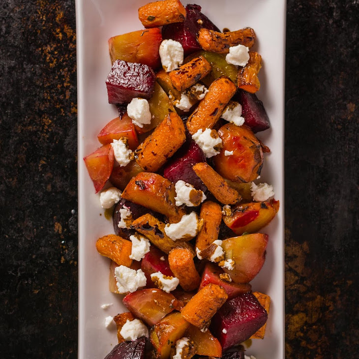 Roasted Beets and Carrots with Goat Cheese and Balsamic Glaze Recipe