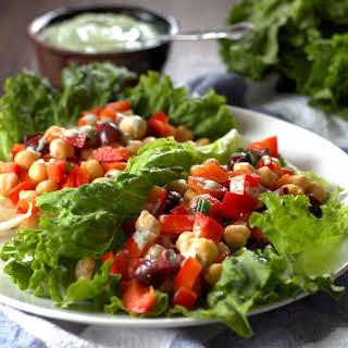 Greek Chickpea Lettuce Wraps.