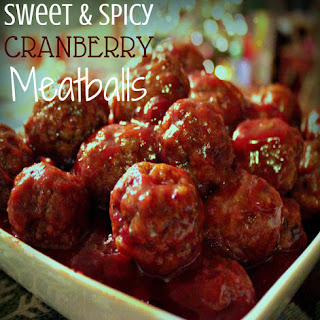Sweet & Spicy Cranberry Meatballs
