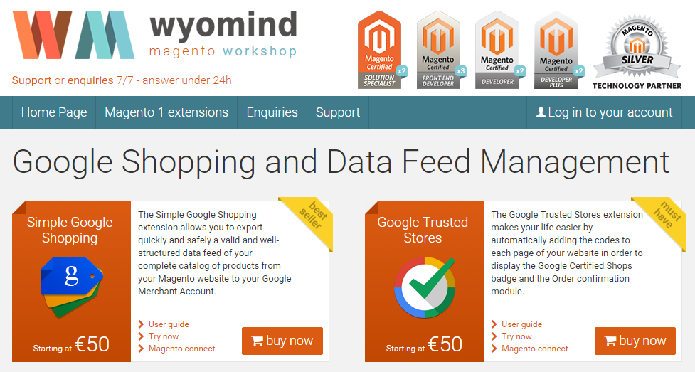 Wyomind Magento 2 modules
