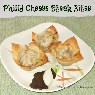 Philly Cheese Steak Bites.