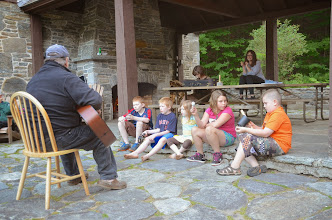 Photo: Kids listening to a performance at Townshend State Park by Linda Carlsen-Sperry