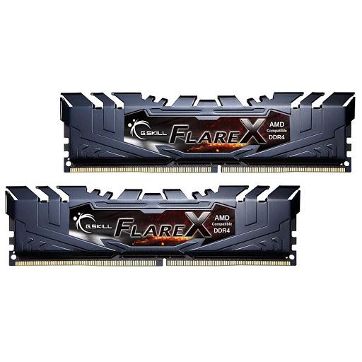 Ram Gskill Flare X 16GB (2x8GB) DDR4/2400 XMP 2.0 Black Heatsink (F4-2400C16D-16GFX)